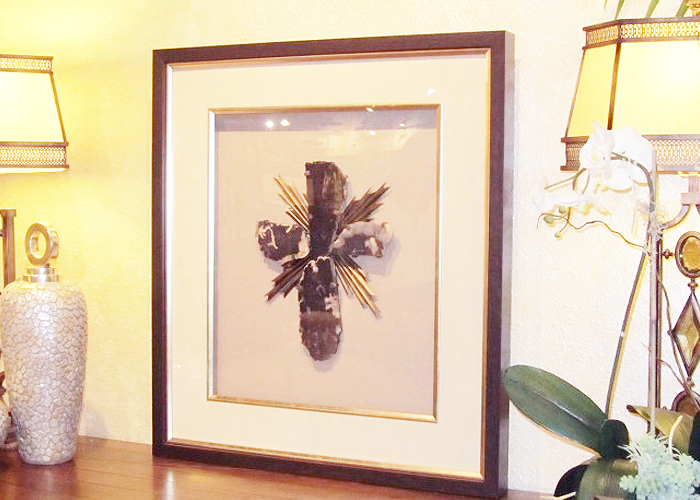Framed Cross - Residential, hospitality - FRAMECO, San Diego, quality custom picture framing