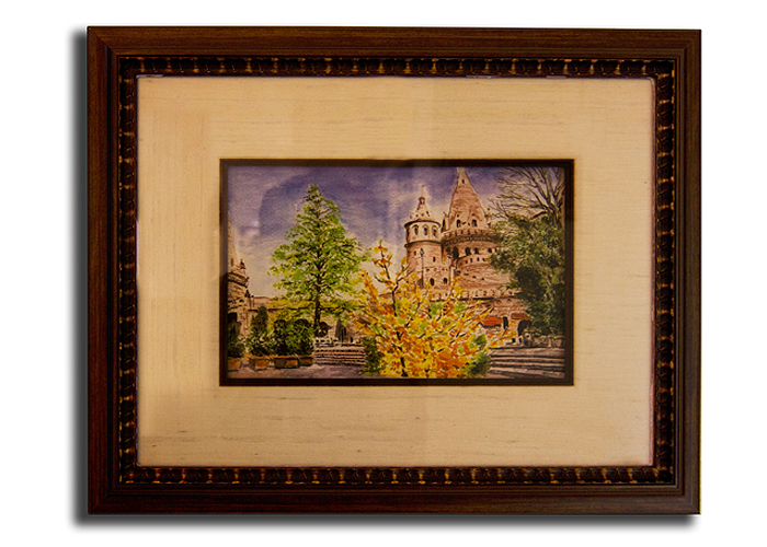 FRAMECO San Diego picture framed watercolor