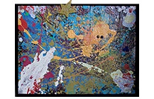 Abstract Painting, Floater Frame