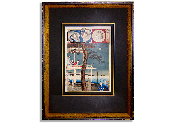 Framed Oriental Print, FRAMECO San Diego, wholesale custom picture framing for residential, model homes, homes, art collections,
