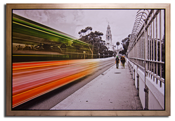 Floater Frame Canvas Stretch Residential Picture Framing in San Diego